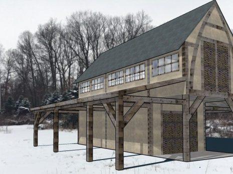 Reilly Timber Barn Model